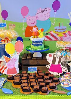 Celebrate with Cake!: Peppa Pig Dessert Table