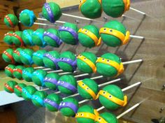 ninja turtle cake pops 1000 images about birthday ideas on 6176