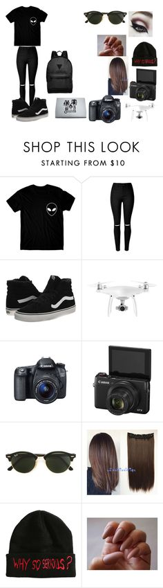 """""""Hanging Out With Tanner Fox"""" by mikey-is-a-idiot on Polyvore featuring Vans, DJI, Eos, Ray-Ban and River Island"""