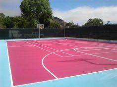 Sport Court of Southern California: Madonna Inn Pink Tennis Courts