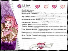 Ever After High - C. A. Cupid's Full Bio v1.5 by cjlou-the-bejeweler on deviantART