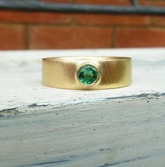 yellow gold emerald ring, emerald gold ring on Etsy, $1,135.37