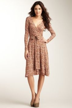 Hourglass Lilly Long Sleeve Wrap Dress