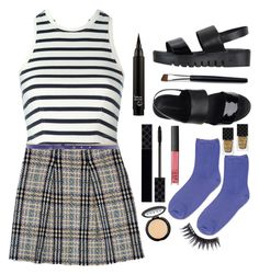 """""""Yaya !!"""" by gaaras-leaf on Polyvore featuring Burberry, Topshop, Jeffrey Campbell, Gucci, NARS Cosmetics, LORAC, Manic Panic, Hope Collection and T By Alexander Wang"""