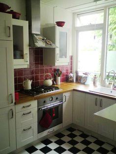 Maria's Red & Cream Dutch Kitchen   Small Cool Kitchens 2012