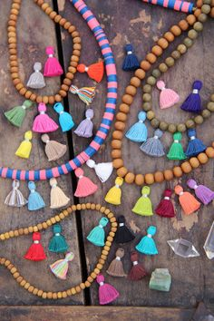 Tiny Tassels, Summer Trend, Short Size, 10+ Cute, Small Cotton, Handcrafted Bohemian Jewelry Making Supply, 2 cm., You Choose Colors // WomanShopsWorld