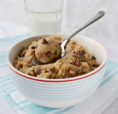 Eggless Cookie Dough - edible, soft, gooey, low in sugar, TOTALLY safe to eat!