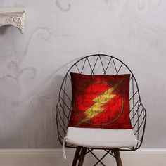 The Flash Symbol Pillow Afternoon Nap, Book Stuff, The Flash, Comic Book, Symbols, Shapes, Pillows, Room, Stuff To Buy
