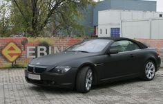 #BMW645 #Cabrio #vollbeklebt #schwarz #matt #carwrapping #Ebinger #Autofolierung