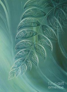Silverfern Painting - Silver Fern By Reina Cottier by Reina Cottier