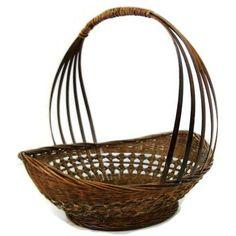 Vintage country gathering basket, American (c 1920s)