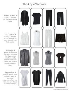 A 16-piece warm-weather travel capsule wardrobe in black and white, for travel to Italy.