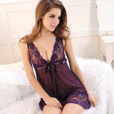 Musim panas Wanita Baru Sexy Pakaian Tidur Tidur Dress Baju Tidur Wanita Baju Tidur Perempuan Camison Gaun Seksi dengan G-string Kapal Gratis
