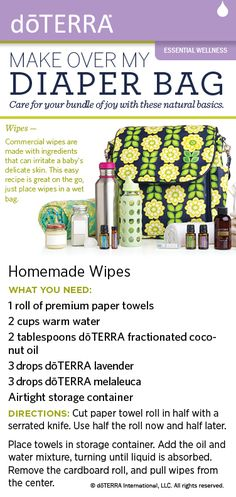 Try this recipe for natural baby wipes made with dōTERRA essential oils. View the full spread from the magazine here: viewer.zmags.com/...