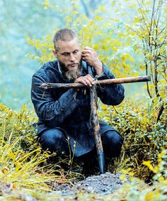 """This is as close to your god as I can get you."" Ragnar Lothbrok (Travis Fimmel) buried his friend Athelstan in Vikings."