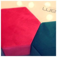 TiGram Pouf  Salone del Mobile 2015  pad. 16 E 44  #brightcolors #salonedelmobile2015 #designweek #coloredfurniture #italianfurniture #wearedifferent