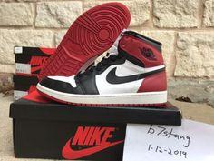 competitive price b7bb8 5598e 2013 Nike Air Jordan 1 Retro High OG Black Toe White Red 555088-184 (