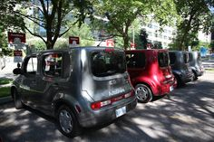 An army of Nissan Cubes