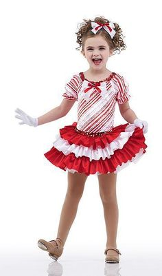 Ribbon Candy Tap Dress Ballet Candy Cane Christmas Dance Costume Child & Adult #Cicci