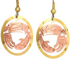 Native Eagle Cut-out Earrings