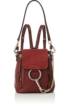 Chloé Faye Mini Leather   Suede Backpack. Mini BackpackLuxury Handbags BalenciagaGivenchyShoulder ... ff5543138e272