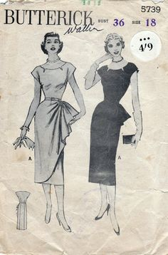 1940s Vintage Sewing Pattern Stunning by allthepreciousthings, $55.00