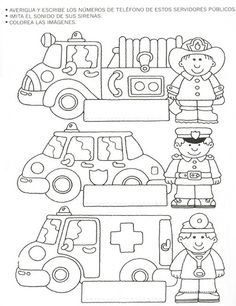 Community helpers worksheets for kids 1 worksheet printables . community helpers worksheets for kids preschool Community Helpers Crafts, Community Helpers Kindergarten, Community Helpers Worksheets, Kindergarten Worksheets, Preschool Activities, Autism Teaching, Community Workers, Transportation Theme, Coloring Pages For Kids
