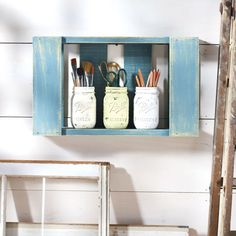 Not only are wood pallets trendy, they can be used as a great organizational tool. Apply a few c...
