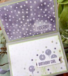 Für eine liebe Person sind zwei unterschiedliche Karten entstanden. Da ich die Lieblingsfarbe des Geburtstagskindes kenne, fiel mir die Wah...
