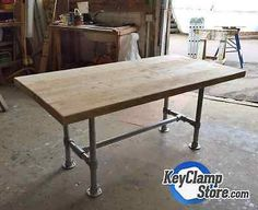 Details about Key Clamp Reclaimed, Scaffold, Industrial Pipe Table / Desk Kit…