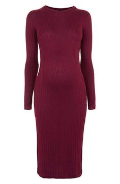 Topshop Long Sleeve Body-Con Maternity Dress available at #Nordstrom