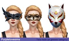 PurpleLove-sims | TERA Mask (S4CC) 3 type / at glasses category...