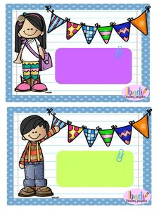 Gafetes Classroom Calendar, Classroom Labels, School Classroom, Classroom Decor, Back To School Gifts, First Day Of School, Sunday School, School Border, School Frame
