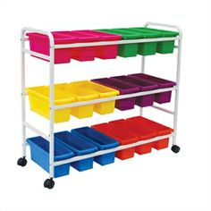 "Lifetime Book Tubs Brite Set of 6 - Six-color set can be used alone or in our Standard or Heavy-Duty Create-a-Cart Frames. Slim design holds readers spine-out. Industrial plastic tubs have a lifetime guarantee. One each: pink, lime, yellow, purple, light blue, orange. 6"" high x 6"" wide x 15½"" deep."
