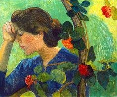 Aristide Maillol -Jeune fille pensive au feuillage, 1893
