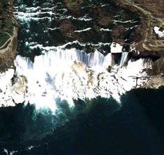 nigra falls google satellite maps image Google Satellite, Satellite Maps, Google Earth View, Waterfalls, Niagara Falls, Waves, Canada, Image, Outdoor