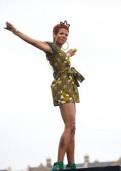 Kelis in African Print Dress from Jewel by Lisa