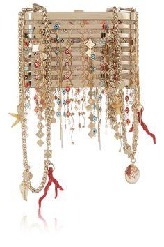 Finds + Barbara Bonner Back To Atlantis gold-tone, leather and jacquard shoulder bag NET-A-PORTER.COM