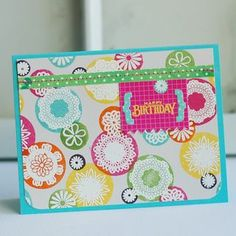 Inspired By Patterned Paper:  Birthday Bubbles Card by Betsy Veldman for Papertrey Ink (July 2012)
