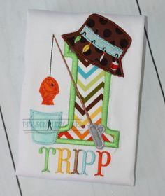 Fishing Theme Birthday Shirt  First Birthday by personalityink, $22.50