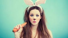 cute bunny makeup for halloween Feliz Halloween, Looks Halloween, Holidays Halloween, Halloween Makeup, Happy Halloween, Halloween Party, Halloween Costumes, Halloween Ideas, Halloween Stuff