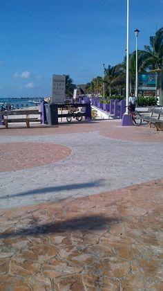 "walk along beach - just off ""Fishermans wharf"" behind town square Pto Morelos"