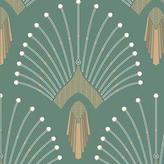 0669 - vert clair home: walls & ceilings pattern wallpaper, washable wa Art Deco Artwork, Art Deco Wallpaper, Wallpaper Iphone Cute, Pink Wallpaper, Pattern Wallpaper, Motif Art Deco, Art Deco Pattern, Art Deco Design, Tattoos Motive