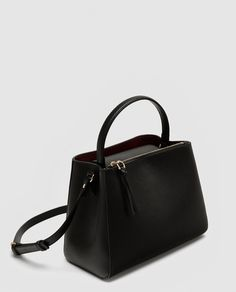 Fashion Bags And Accessories Stylish Handbags, Purses And Handbags, Sac College, Zara Bags, Black Leather Backpack, Boho Bags, Leather Bags Handmade, Medium Tote, Cute Purses