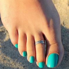 Buy Women Lady Adjustable Antique Silver Metal Toe Ring Foot Beach Jewelry at Wish - Shopping Made Fun Beautiful Toes, Pretty Toes, Silver Toe Rings, Feet Nails, Toenails, Toe Nail Designs, Sexy Toes, Toe Nail Art, Women's Feet