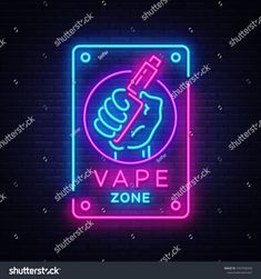 Find Zone Vaping Neon Sign Vector Template stock images in HD and millions of other royalty-free stock photos, illustrations and vectors in the Shutterstock collection. Vape Logo Design, Vape Store Design, Vape Wallpaper, Galaxy Wallpaper, Hookah Lounge Decor, Tobacco Store, Night Illustration, Window Art, Vape Shop