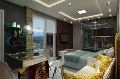 Loft em Joinville. Super moderno e prático! Decoração Lofts