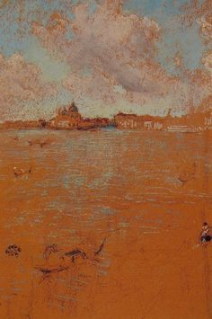 James Abbott McNeill Whistler, Venetian Scene, c. Chalk and pastel on brown paper, x cm. New Britain Museum of American Art. Diego Velazquez, James Abbott Mcneill Whistler, American Impressionism, Art For Art Sake, Klimt, Oeuvre D'art, American Artists, Les Oeuvres, Painting & Drawing