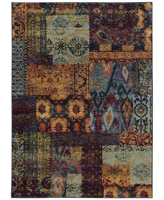 Macy Fine Rug Gallery Journey Patchwork Multi x 2 Area Rug Art Chinois, Art Japonais, Vintage Soul, Modern Traditional, Modern Carpet, Persian Carpet, Jewel Tones, Carpet Runner, Woven Rug
