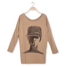 Lady Head Print T-Shirt